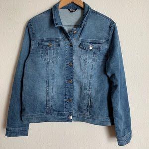 Buffalo David button denim looking soft jacket
